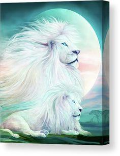 White Lion - Spirit King Mixed Media by Carol Cavalaris. Lion of Judah, prophetic art. Animals And Pets, Cute Animals, Wild Animals, Baby Animals, Lion Love, Lion Wallpaper, Lion Pictures, Lion Of Judah, Lion Art