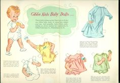 1950s Gibbs Underwear Colthes Advertising Paper Doll | eBay