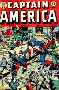 Captain America Comics # 39 by Alex Schomburg