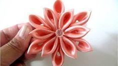 arreglo de cintas de raso cabello para niña de las flores - YouTube