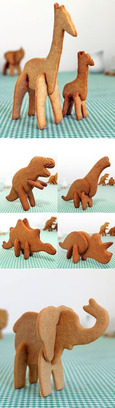 3-D Animals Cookie Cutters - cute for a kids party or baby shower!