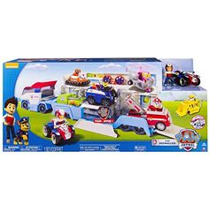New Paw Patrol Paw Patroller Transporter Truck Hauler includes Ryder and ATV Product Description Children can drive their Paw Patrol vehicles in and head out together for a fresh out of the box new ex...