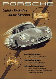 Porsche Dreifacher Porsche-Sieg auf dem Nurburgring - 1950s