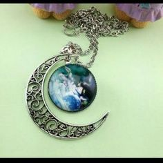 I just discovered this while shopping on Poshmark: Aries crescent moon necklace,  new. Check it out!  Size: OS