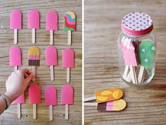 Chill Out    This appetizing take on the memory game invites little revelers to flip paper popsicles and match colorful patterns.    Learn how at eatdrinkchic.com.