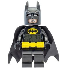 Lego Batman Figure Alarm Clock ($32) ❤ liked on Polyvore featuring home, home decor, clocks, mini figure, digital alarm clock, batman figure, miniature clock and snooze alarm clock