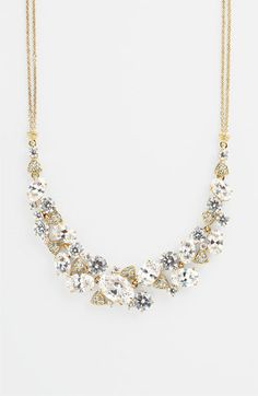 Nadri Cubic Zirconia Cluster Frontal Necklace (Nordstrom Exclusive) available at #Nordstrom