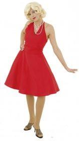 Faschingskostüm Marilyn Kleid rot