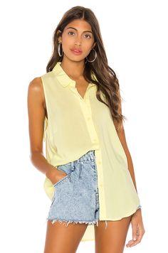 Shop for BCBGeneration Tie Back Sleeveless Top in Lemon at REVOLVE. Vintage Street Fashion, Good Attitude, Rachel Bilson, Tie Backs, Pop Fashion, Blouses For Women, Cool Style, Short Dresses, Street Style