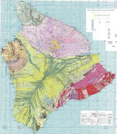 Psychedelic Rock: Wildly Colorful Geologic Maps of National Parks BYBETSY MASON 08.15.13| Hawaii Volcanoes National Park
