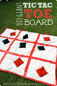 Giant DIY Tic Tac Toe Board Vertical 1
