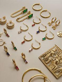 Ear Jewelry, Cute Jewelry, Gold Jewelry, Vintage Jewelry, Jewelry Accessories, Fashion Accessories, Fashion Jewelry, Jewelry Design, Accesorios Casual