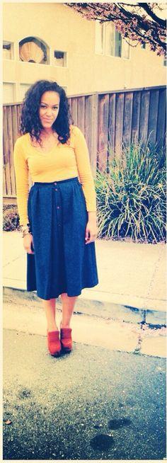 thrift store score..skirts!