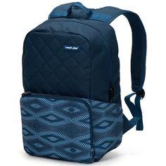 Batoh Travel plus uschová vše co potřebujete. Tento batoh s polstrovanou kapsou na notebook (max. 27 x 29 cm) a tablet (max. 21 x 24 cm) má hlavní komoru na duální zip a tři další kapsy, dvě menší síťované a jednu větší se zipem. Dvě přední kapsy jsou také se zipem. Batoh má jemně vyztužená záda i ramena. Popruhy jsou nastavitelné. Boční volné kapsy unesou až litrové láhve.