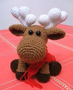 Амигуруми: Лось. Бесплатная схема для вязания игрушки. FREE amigurumi pattern. #амигуруми #amigurumi #схема #pattern #вязание #crochet