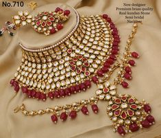 Price: Design Code multiply by 7 + Shipping extra Wedding Jewellery Inspiration, Wedding Day Jewelry, Bridal Party Jewelry, Bridal Necklace, Wedding Necklaces, Necklace Set, Indian Bridal Jewelry Sets, Bridal Jewelry Vintage, Indian Jewelry