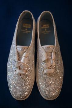 glittery Kate Spade wedding Keds