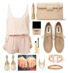 """Beige All The Way"" by mydailypoly23 ❤ liked on Polyvore featuring STELLA McCARTNEY, Forever 21, Marc by Marc Jacobs, Adina Reyter, R.J. Graziano, GUESS, Charlotte Russe, Butter London, Stila and Dolce&Gabbana"