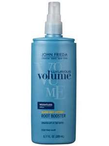 john freida luxurious volume blow dry lotion root booster. This product really works if you want to add volume to your hair! I've had a hard time finding something that will work and this is very light, doesn't leave residue and isn't sticky!