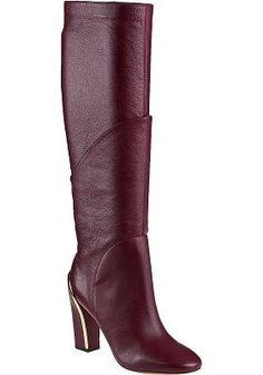 Diane Von Furstenberg - Grace Tall Boot Deep Cherry Leather