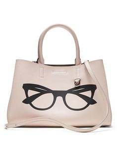 Banana Republic Mini Larkin Glasses Graphic Tote Size One Size - Rosy blush Banana Republic Handbags, Pink Tote Bags, Latest Shoes, Eyewear, Purses, Clothes For Women, My Style, Mini, Accessories
