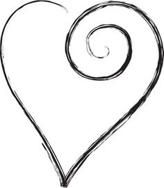 Free Black heart in a pretty, scroll design on Valentine Clipart Jj Tattoos, Trible Tattoos, Tatoos, Heart Tattoos, Clipart, Scroll Design, Doodles, Get A Tattoo, Wrist Tattoo