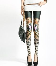 Stylish Pattern Leopard Print Tights Leggings