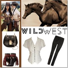 West? by tatajrj on Polyvore featuring STOULS, Dsquared2, Chloé, Leftbank Art and wildwest