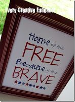 Home of the Free Because of the Brave free printable art print of july independance day I Love America, God Bless America, Holiday Crafts, Holiday Fun, Holiday Ideas, July Crafts, 4th Of July Party, Fourth Of July, Patriotic Decorations