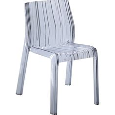 Give any space a touch of contemporary appeal with the Fine Mod Imports Stripe Dining Chair – Clear . Ideal for indoor or outdoor use, this. Striped Dining Chairs, Clear Dining Chairs, Acrylic Dining Chairs, Acrylic Chair, Dining Chair Set, Dining Room Chairs, Side Chairs, Office Chairs, Dining Tables