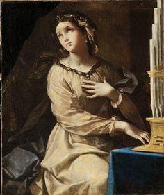 Lorenzo Pasinelli (1629-1700) - Santa Cecilia all'organo- Pinacoteca Nazionale di Bologna