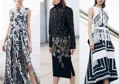 Pre Fall 2014   Print Highlights Part 3 catwalks Contrtast trends!!!! Typically example - black x White!!!