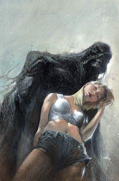 Swamp Thing and Abigail Arcane by Gabriele Dell'Otto Comic Book Artists, Comic Artist, Comic Books Art, Gi Joe, Illustrations, Illustration Art, White Lantern Corps, Marvel Comics, Comic Art