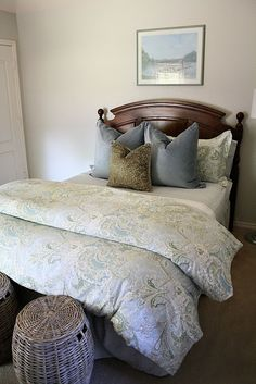 """bedding from """"Sienna Paisley"""" bedding collection at Pottery Barn...check out eBay to see if it can be found for cheaper"""
