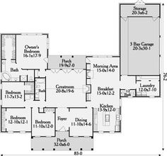 House plans on pinterest floor plans guest houses and for Houseplans bhg com