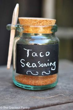 "Clean Eating Taco Seasoning:: 2 tablespoons ground cumin 1 teaspoon paprika 1/2 teaspoon cayenne pepper 1/2 teaspoon onion powder 1/2 teaspoon garlic powder 1/4 teaspoon black pepper 1/4 teaspoon chili powder Directions:  Blend all spices in a bowl and use to season any taco meat you are cooking. Use approximately 1 tablespoon per pound of meat.  Note: This mix has a small amount of ""kick"" to it. Nothing that will set your mouth on fire, but definitely noticeable."