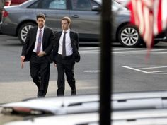 Mark Zuckerberg, chief executive officer of Facebook Inc., right, arrives to the White House for a meeting with U.S. President Barack Obama. President Barack Obama meets today with six Internet and technology company executives to continue discussions about National Security Agency spying following revelations the NSA may have infected millions of computers globally with malware.