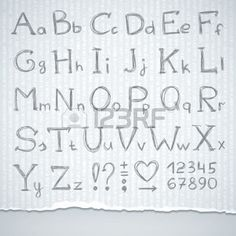 hand drawn alphabet photo