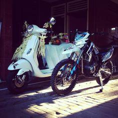 Vespa lx 125 x kawasaki klx 150cc