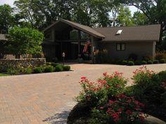 Midwest landscape ideas | Brown Paver DrivewayOhio LandscapingThe Site Group, Inc.New Carlisle ...