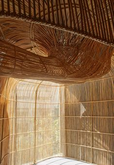 Enter Projects Asia used rattan – a type of climbing plant with a flexible woody stem – as the main material to break up a 450-square-metre space in a triangular-shaped block in downtown Bangkok into a series of yoga studios. Bangkok, Colossal Art, Glass Facades, Ground Floor Plan, Create Space, Commercial Design, Sustainable Design, Interior Architecture, Bamboo Architecture