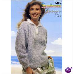 Ladies Jumper / sweater double knitting pattern womens DK Sunbeam patterns 1262 on eBid United Kingdom