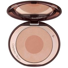 Charlotte Tilbury 'Cheek to Chic' Swish & Pop Blush (125 BRL) ❤ liked on Polyvore featuring beauty products, makeup, cheek makeup, blush, first love, blush brush and creamy blush