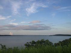 Vista a partir da ponte da Ilha de Itamaracá, PE. Brasil
