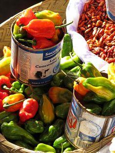 peppers at the market, Antananarivo, Madagascar