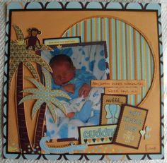 baby boy safari scrapbook layouts   Our Little Boy