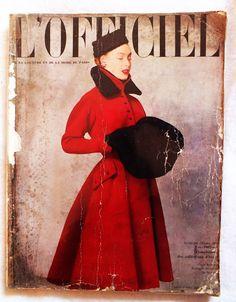 L'Official, October 1951  Pierre Balmain coat