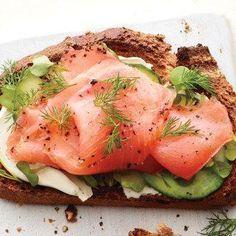 Smoked Salmon and Cucumber Toast recipe
