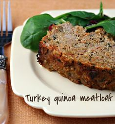 Quinoa turkey meatloaf, easy and healthy.