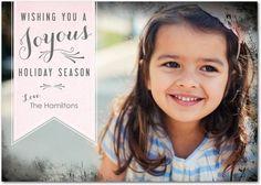 Flat Holiday Photo Cards Shining Joy